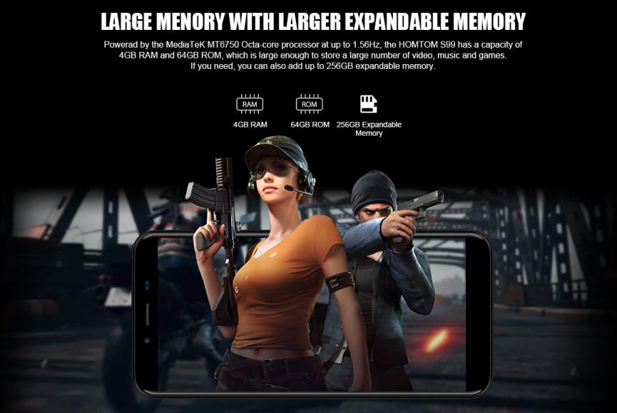 HomTom S99 smartphone android para gamers