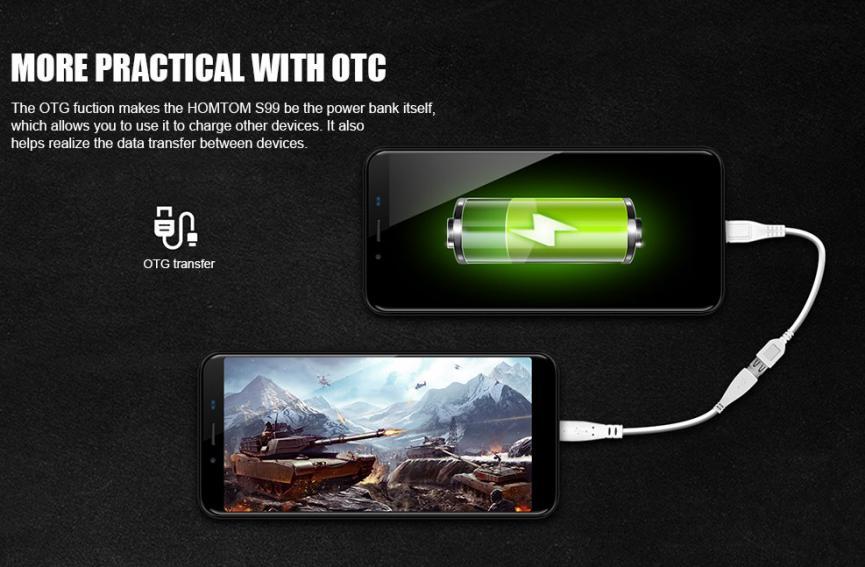 HomTom S99 y su banco de energía portátil Android