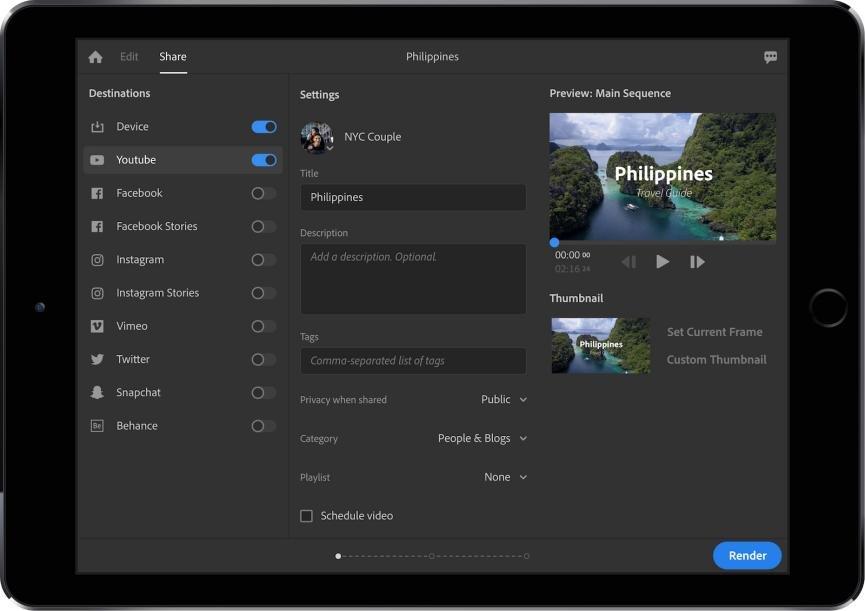 Proyecto Rush con Adobe Premiere para Android