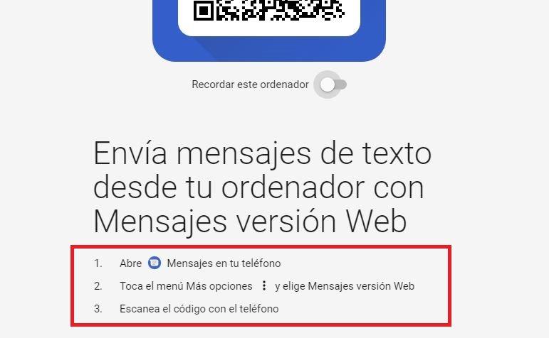 mensajes Android en el PC