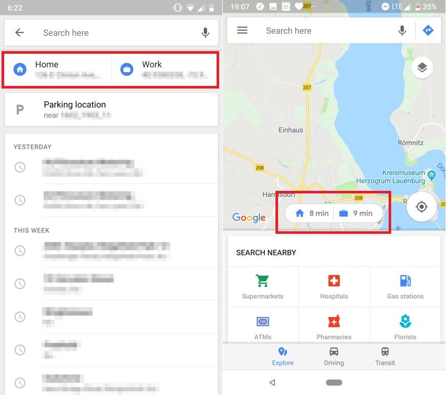 nuevos botones en Google Maps Android