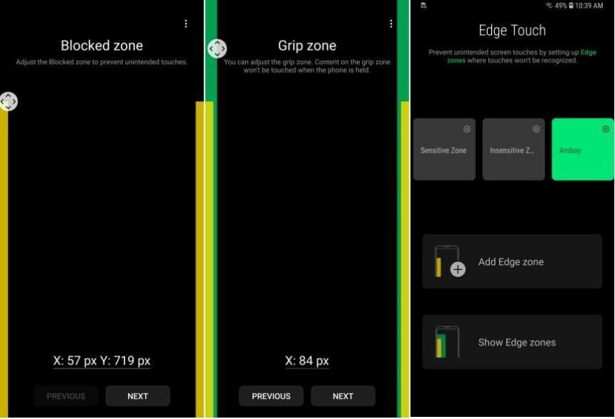 Cómo funciona Edge Touch en Samsung Galaxy