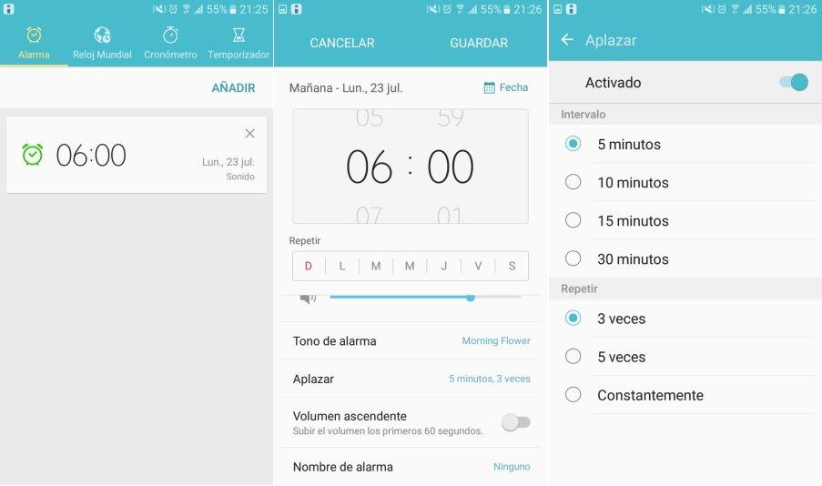Como aplazar las Alarmas en Android