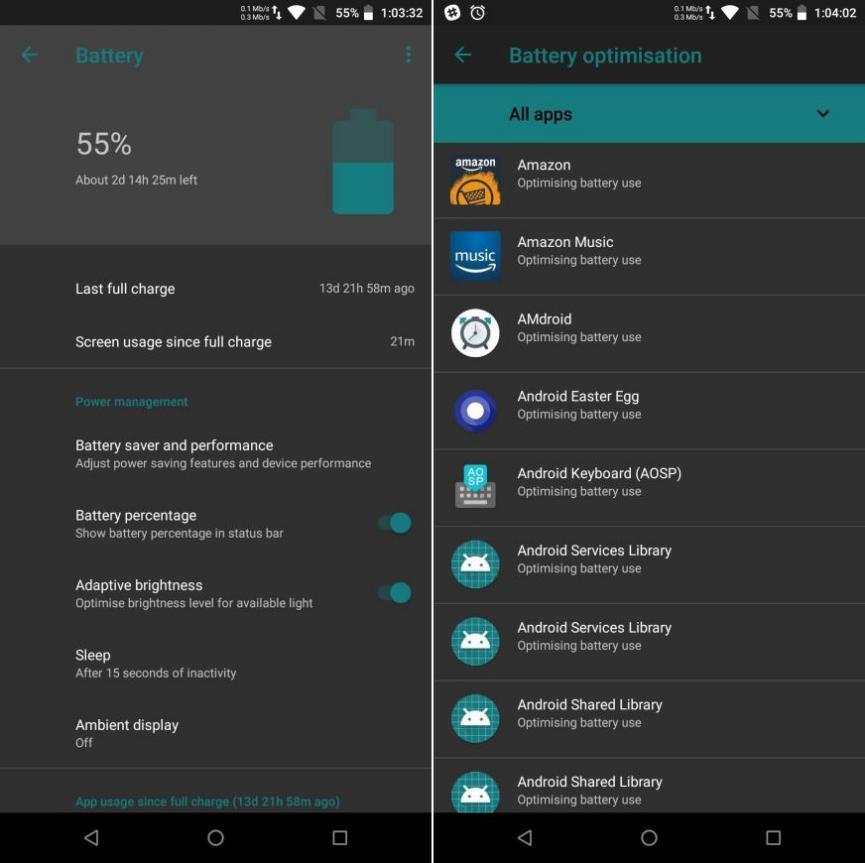 carga de bateria Oreo Android 8.1