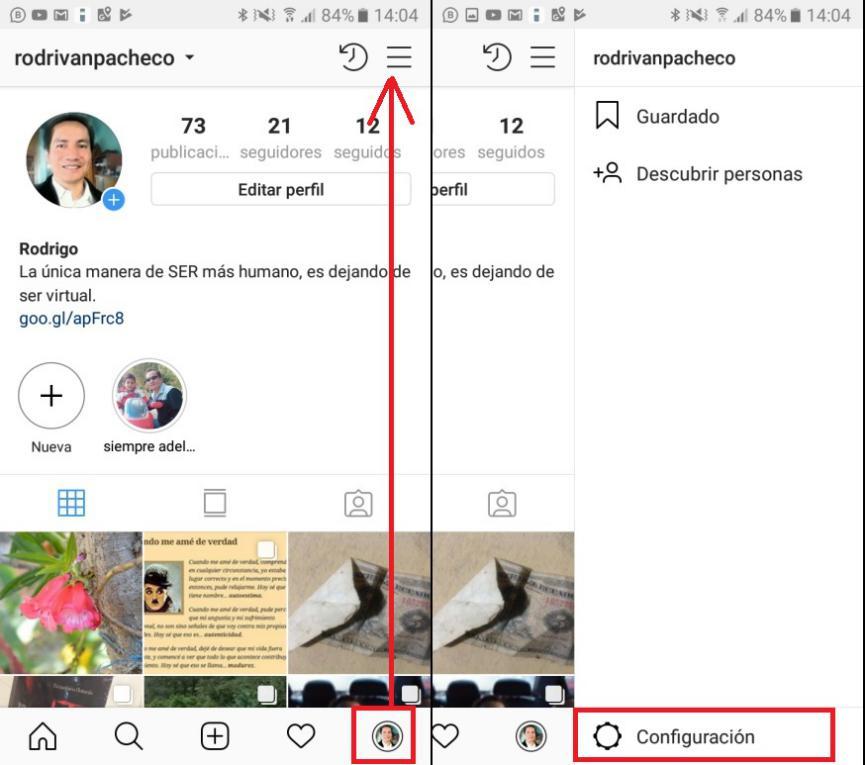 Autenticación de 2 Pasos en Instagram Android