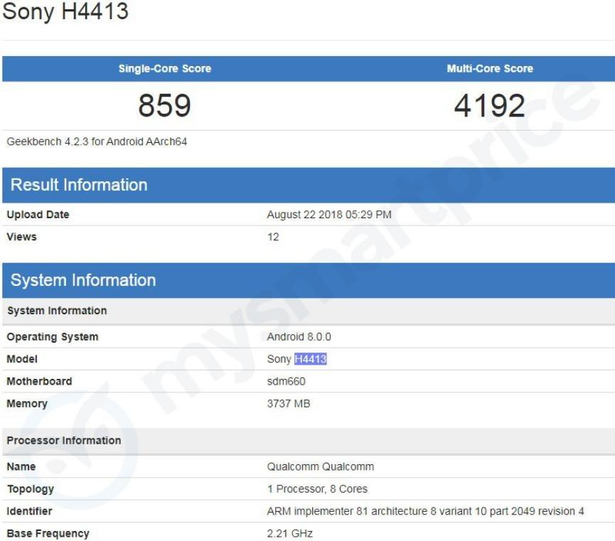 Sony Xperia XA3 especificaciones