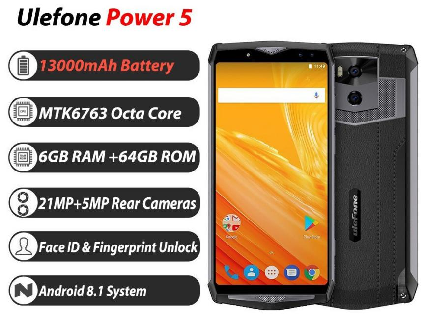 SmartPhones Poderosos Android Ulefone Power 5