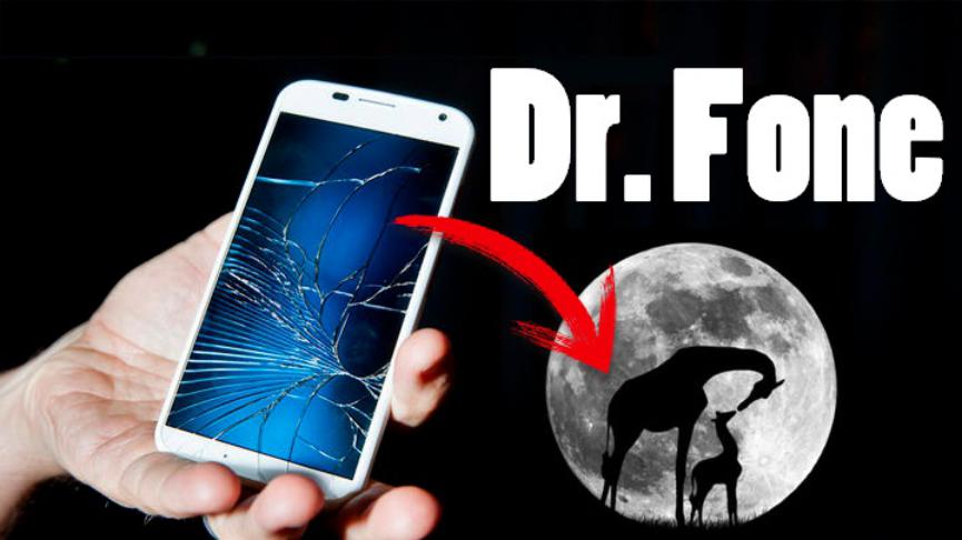Dr. Fone smartphone pantalla rota