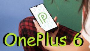 OnePlus 6 Pie Android 9.0