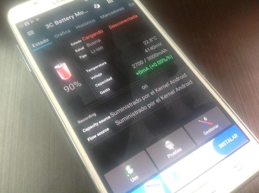 bateria del smartphone android