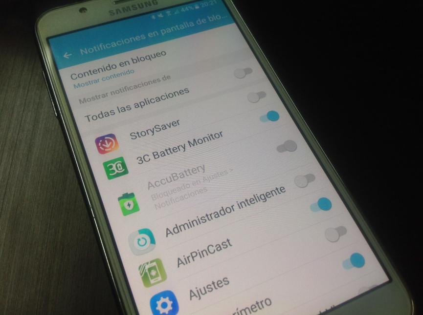 desactivar notificaciones pantalla de bloqueo android