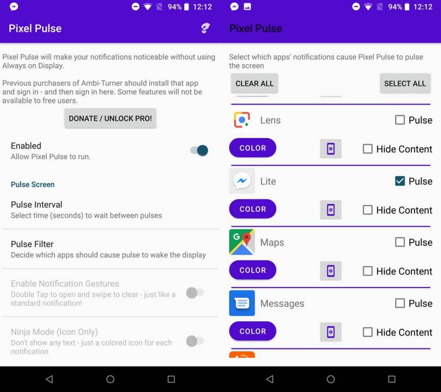 notificaciones en Android con Pixel Pulse