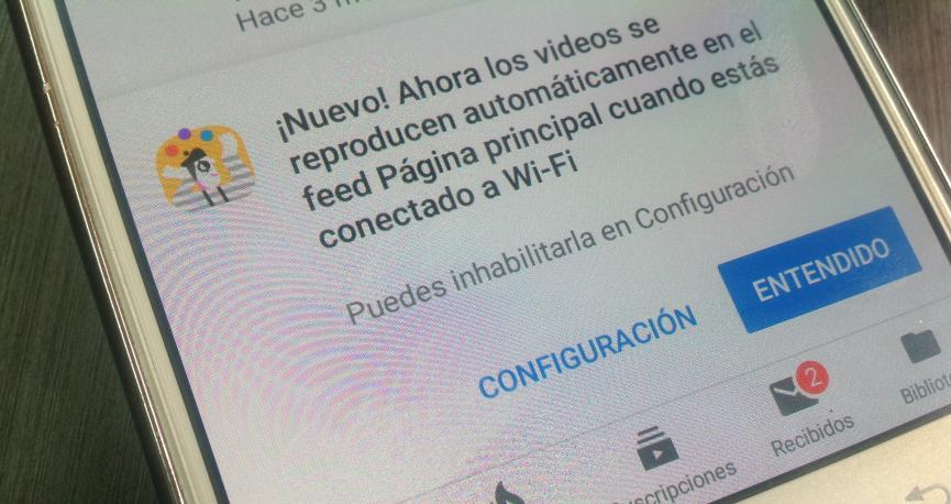 Videos YouTube con WiFi