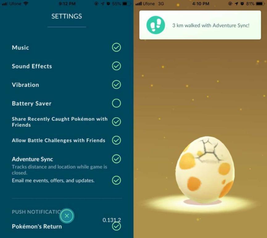 Adventure Sync on Pokèmon Go smartband