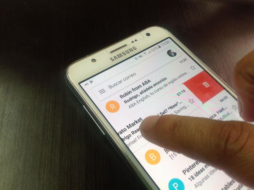 Nueva imagen en Gmail Android