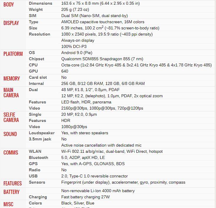 Black Shark 2 especificaciones completas