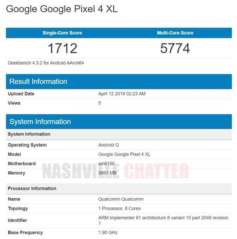 especificaciones Google Pixel 4 XL