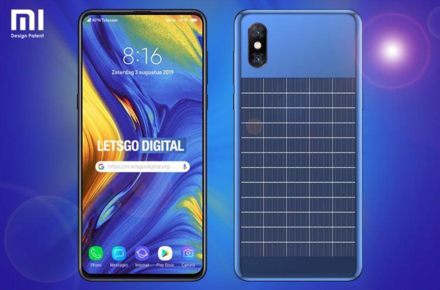 SmartPhone Xiaomi con panel solar