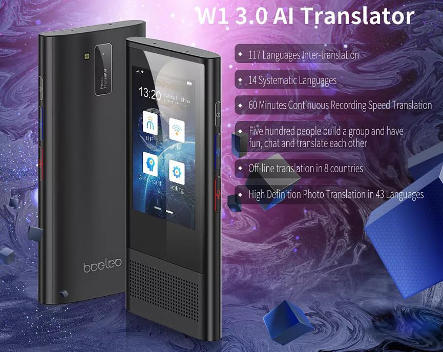 Boeleo W1 traductor Android de Google y Microsoft