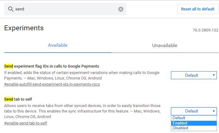 pestañas Chrome a Android