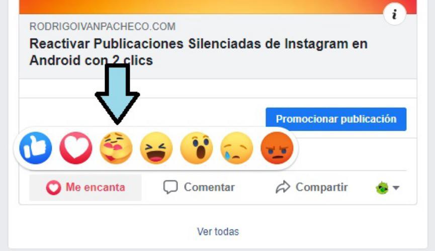 me importa reacciones Facebook en Android
