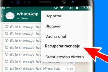 Mensajes de WhatsApp Borrados