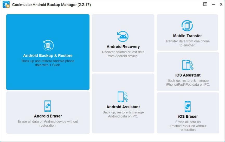 Coolmuster Android Backup Manager 00
